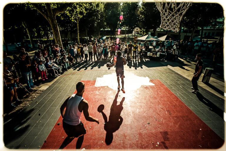 basket callejero en plaza sants competicion red bull king of th rock