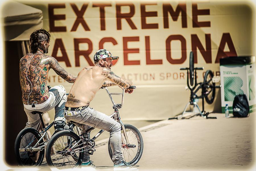 Riders tatuados en una competición EXTREME BARCELONA